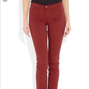 J Brand 811 mid rise luxe Japanese twill rust 29